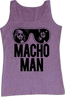 47c61721945af WWE World Wrestling Entertainment Old School Macho Man Glasses Adult Tank  Top Shirt