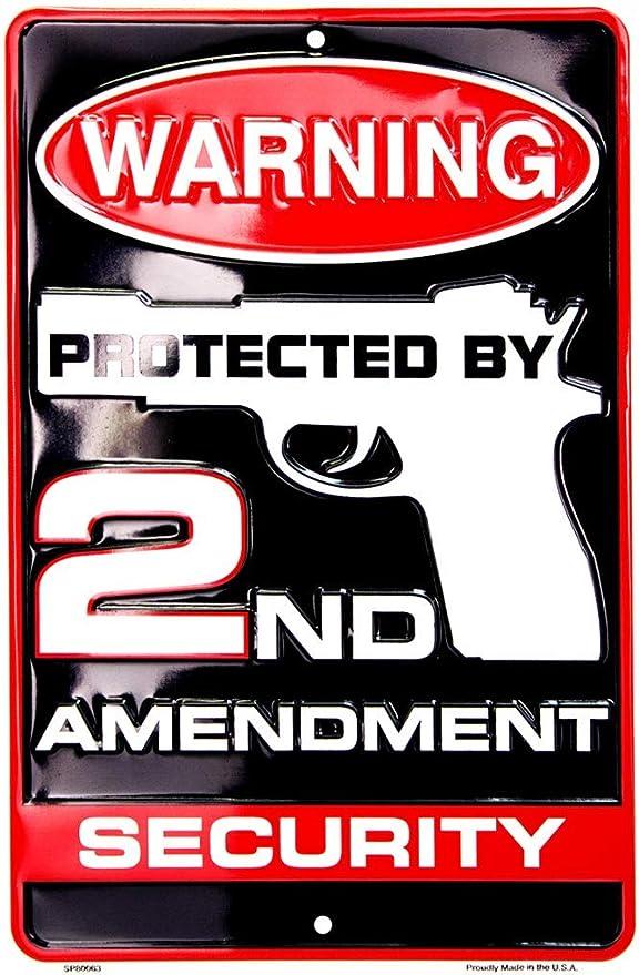 2nd Amendment Americas Original Homeland Security Metal Novelty License Plate Tag Sign
