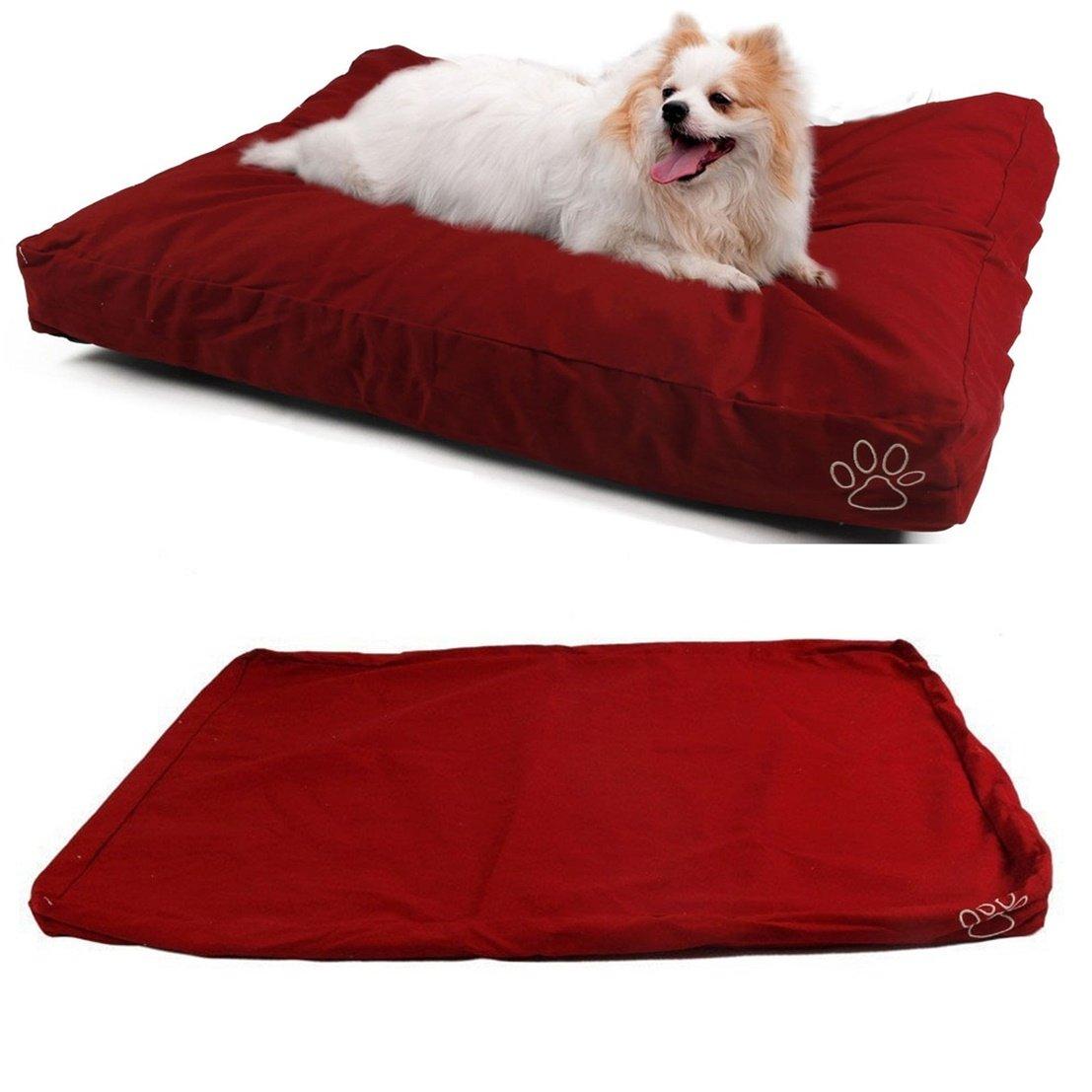 1Pcs Topnotch Popular Pet Bed Cover Size L 36'' x 29'' Replacement Cat Pillow Cushion Color Type Red Cotton