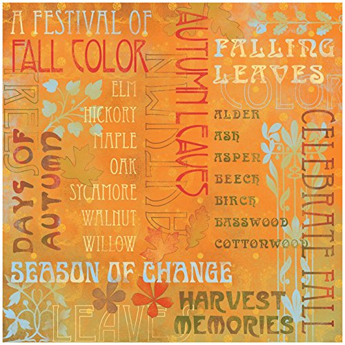 Karen Foster Design Scrapbooking Paper, 25 Sheets, Celebrate Fall Collage, 12 x - Foster Design Karen Paper Collage