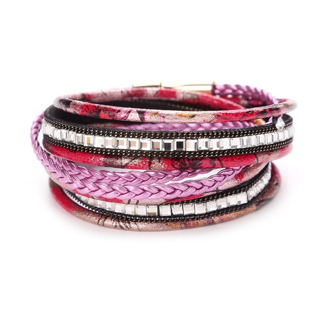 Molyveva Fashion Jewelry Multilayer Hemp Cords Leather Bracelet Ethnic Tribal Bracelets Leather Wristband Old Tree Store