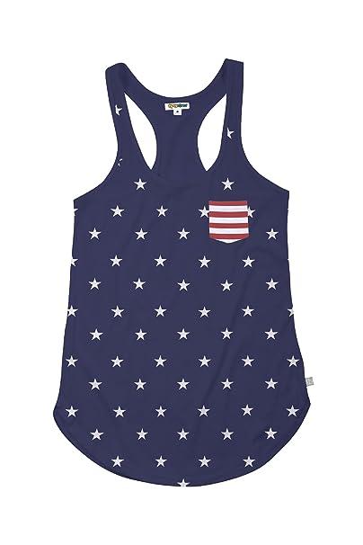 400ae686 Tipsy Elves Women's American Flag Patriotic Tank Top - Blue Patriotic Tank  Top T-Shirt