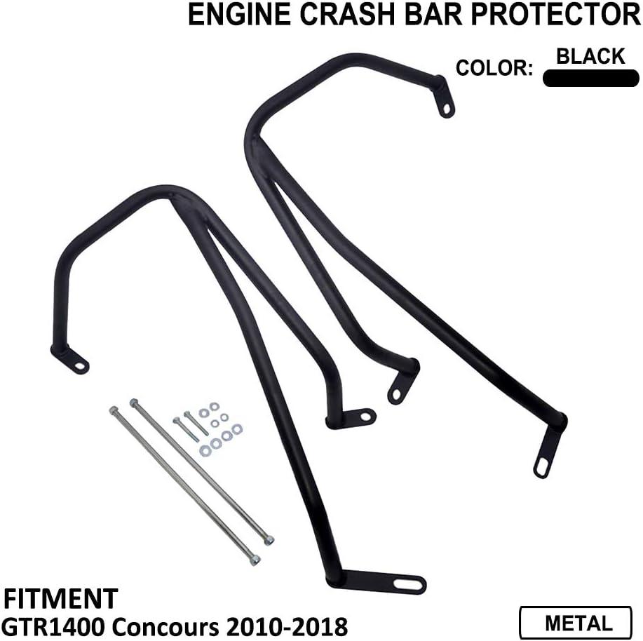 Color Negro AnXin Barras de Choque para Motocicleta protecci/ón de Marco para Kawasaki Concours GTR1400 2010-2018