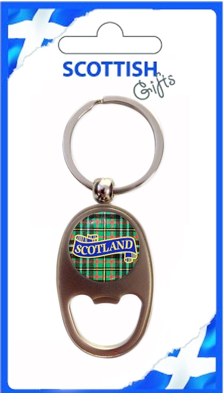 日本最級 Bottle Souvenir Opener Keyring Scotland Scotland Green Tartan Oblong Shape Green Souvenir Gift B007OBKQ9S, Pleasure:d1517a02 --- yelica.com