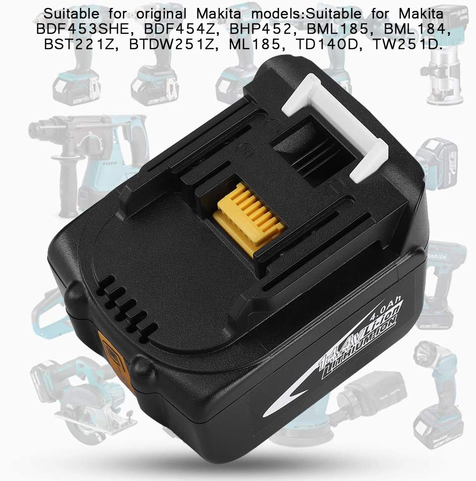 Eboxer Batterie au Lithium 14.4V 4A Batteriede Rechange avec Lampe pour Makita BL1430 BL1440 BL1450 BL1460 6000mAh