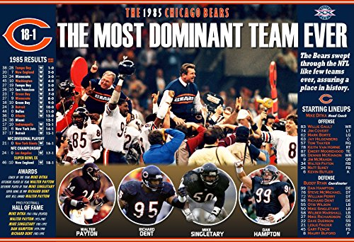 THE 1985 SUPER BOWL CHAMPION CHICAGO BEARS COMMEMORATIVE POSTER