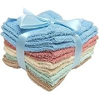 Main Street 11-pack 100% Cotton Wash Cloths - 4 Colors - 12x12