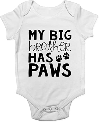 My Big Brother Has Paws Baby Bodysuit Pregnancy Announcement Baby Announcement