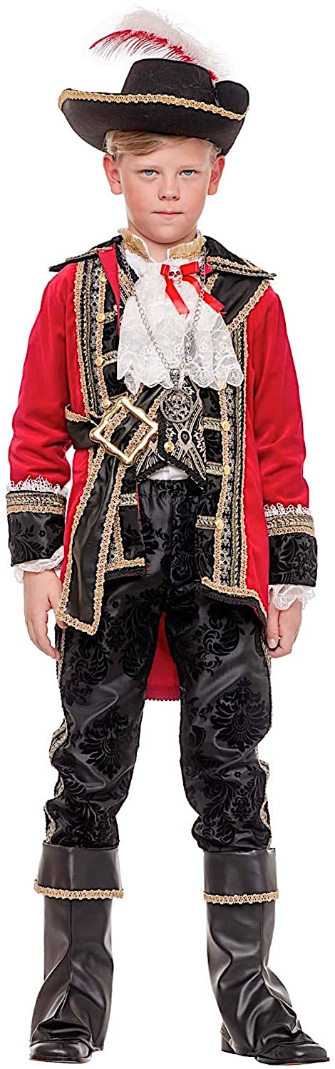 Disfraz CAPITN DE Piratas Beb Vestido Fiesta de Carnaval Fancy Dress Disfraces Halloween Cosplay Veneziano Party 53902