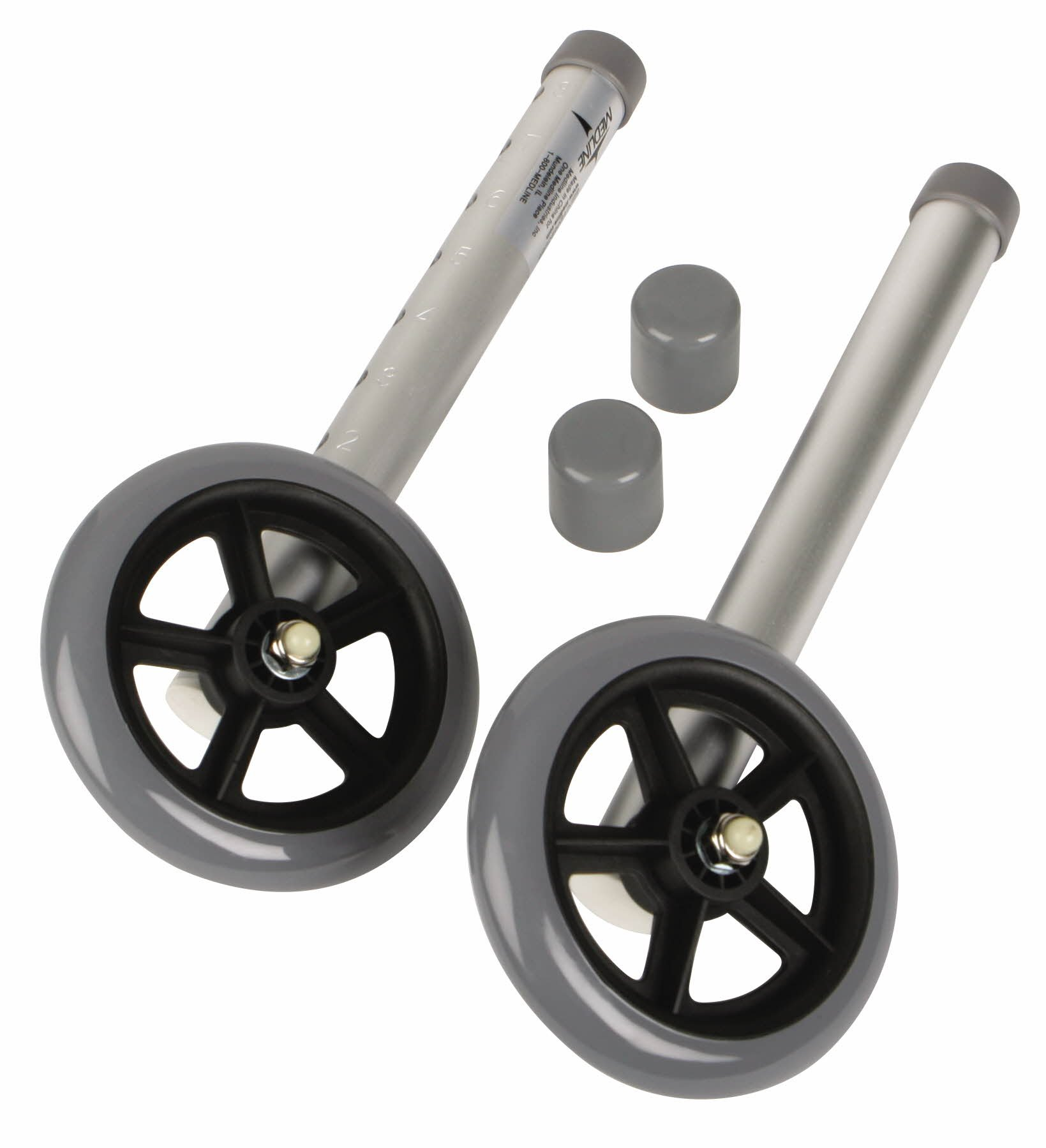Medline Walker Replacement Casters, 3 Inch
