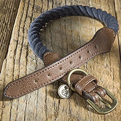 Embark Pets Zion Dog Rope Collar - Made from 100% Cotton