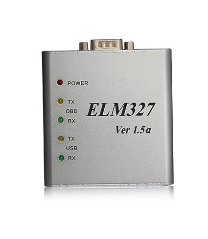 Amazon com: Metal ELM327 Ver 1 5a Software OBD2 code reader USB CAN