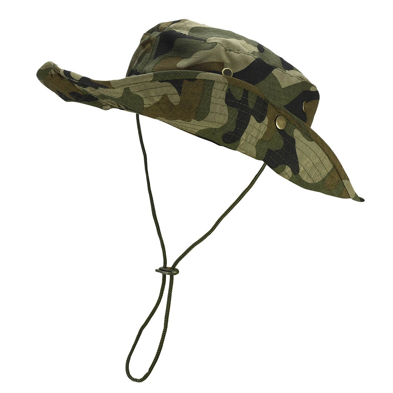 a098071f289 FALETO Outdoor Boonie Hat Wide Brim Breathable Safari Fishing Hats UV  Protection Foldable Military Cap