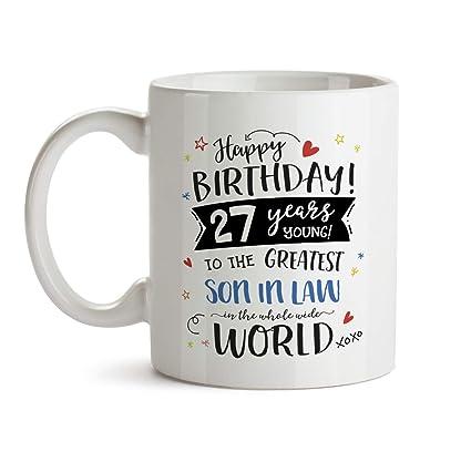 27th Happy Birthday Gift Mug Greatest Son In Law