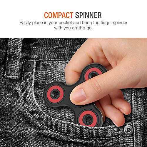 Trianium Fidget Spinner [Tripple Ranger] Prime Phone Stress Reducer Toy for Kid Student Adult [Premium Hybrid Ceramic] [Easy Flick+Spin] Single/both Hands Finger Figit Toys For Anxiety,Autism,Boredom