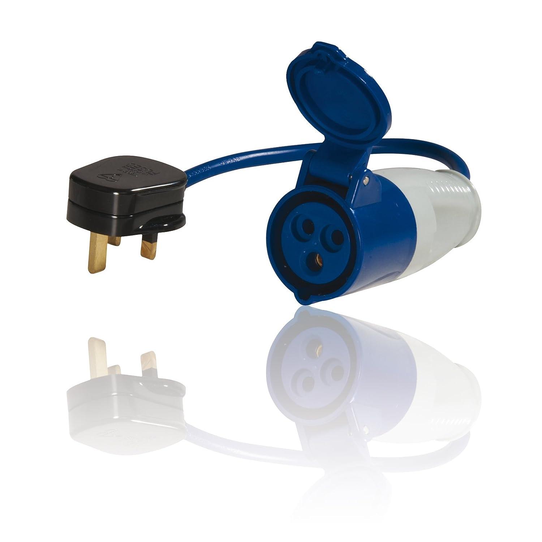 3 Pin Plug Socket Surface Mounted Weatherproof E IP44 220V 240V 16A