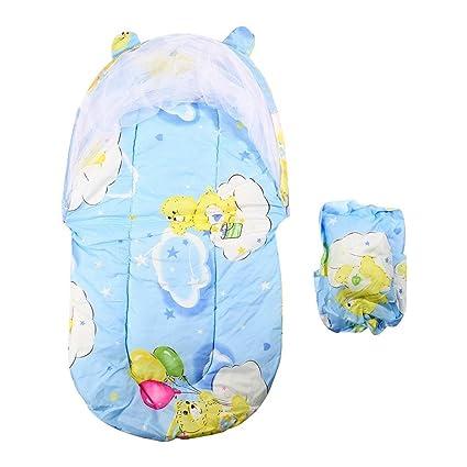 Plegable Nuevo Bebé de Algodón Acolchado Colchón Infantil Almohada Cama Mosquitera Tienda de campaña Soporte Niños
