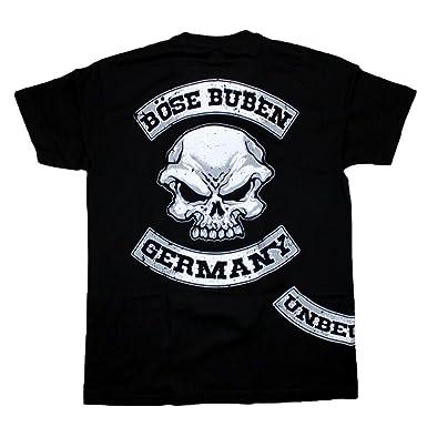 Böse Buben Club Patch Hooligan Biker Rocker Shirt Schwarz Amazonde
