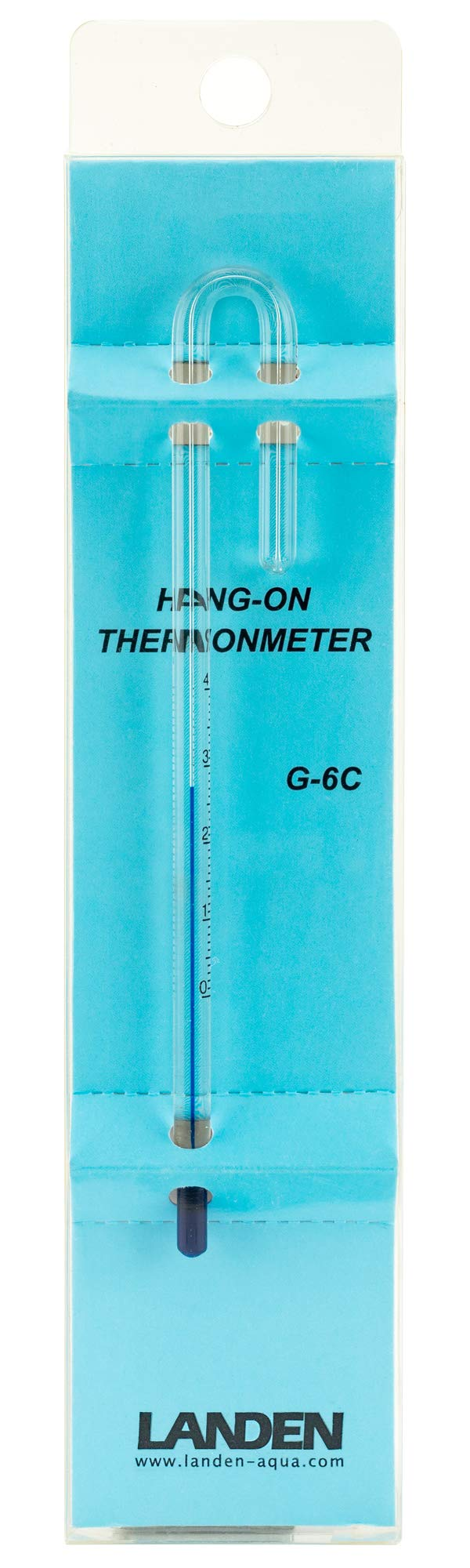 Landen Hang On Thermometer, Clear, 6mm (G-6C) by Landen