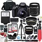 Canon T6 EOS Rebel DSLR Camera with EF-S 18-55mm f/3.5-5.6 IS II Lens and Two (2) 16GB SDHC Memory Cards Plus Triple...