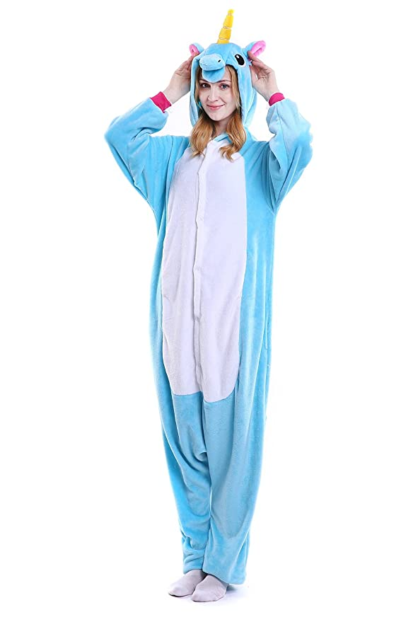 Amazon.com: FLEAP Onesie Pajamas Animal Sleepwear Kigurumi Cosplay Cartoon Nightwear Halloween: Clothing