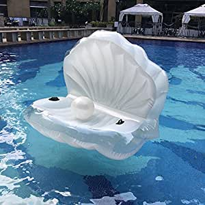 Swimming pool giant shell rideable inflatable - Amazon inflatable swimming pool toys ...