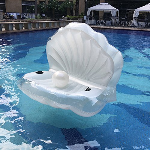 swimming-pool-giant-shell-rideable-inflatable-float-toy-raft-mermaid-sea-shell-inflatable-pool-float