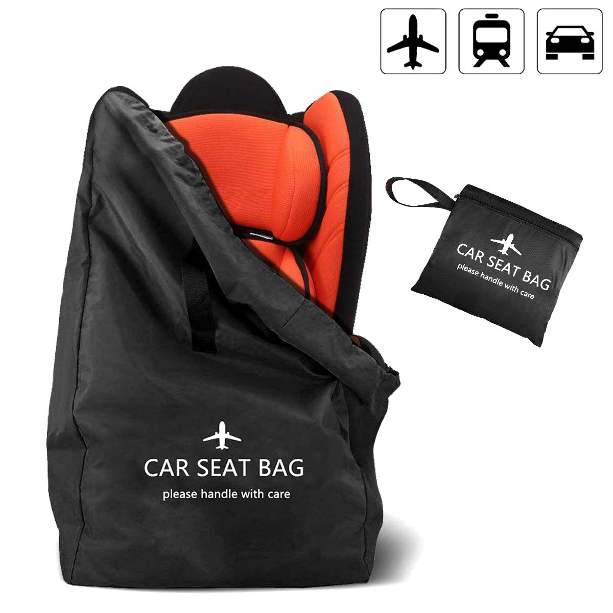 Ceekii Convertible Car Seat Travel Bag for Airplane - Baby Gate Check Travel Bag with Backpack Shoulder Straps - Portable Car Seat Backpack for Air Travel - Foldable with Pouch by CeeKii