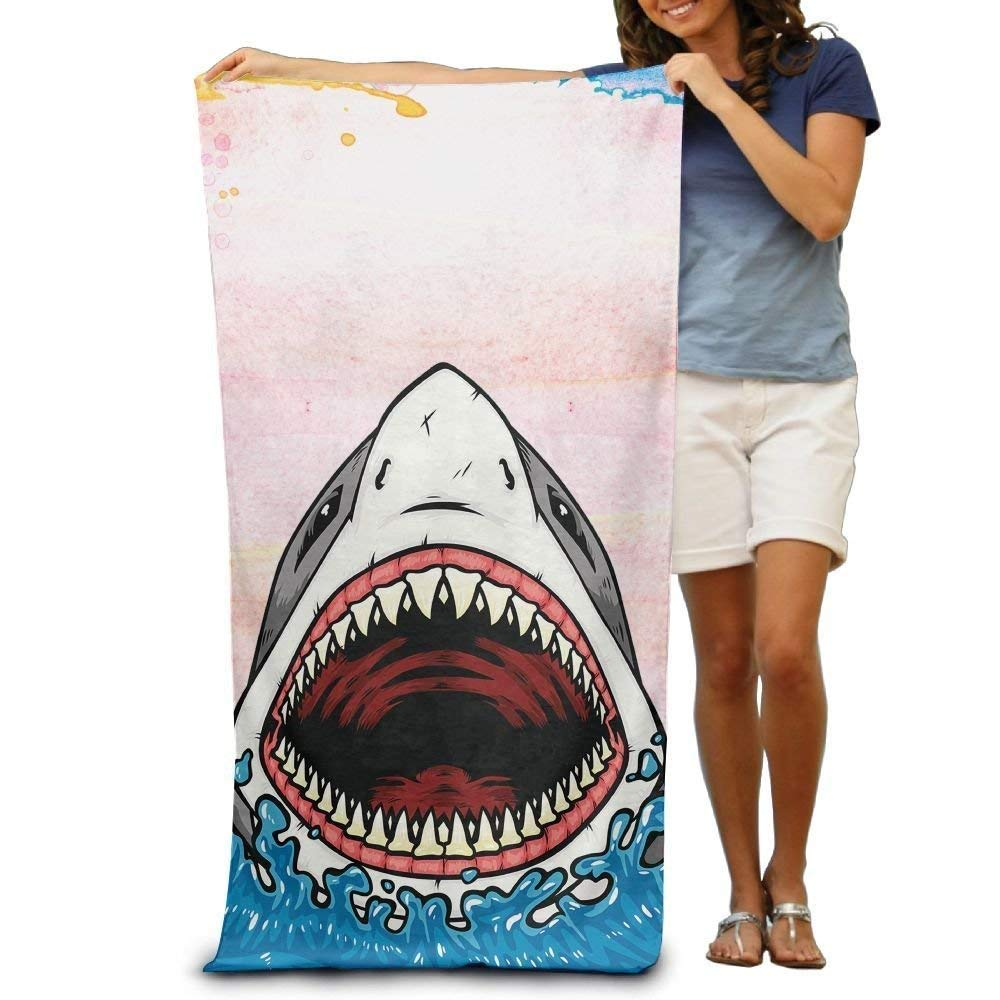 jinhuilvc Big Mouth Shark Beach Bath Pool Hooded Extra Large Towels Blanket For Adult: Amazon.es: Hogar