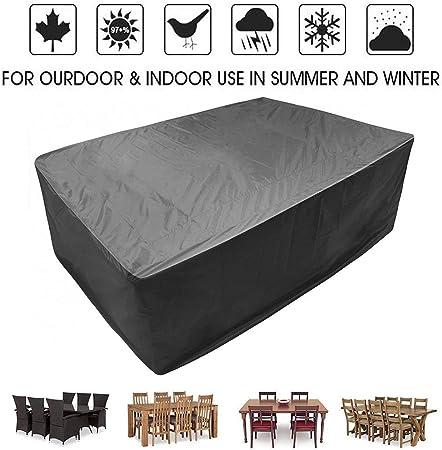 KEANCH Impermeable y Transpirable Oxford Tela al Aire Libre Muebles de jardín Cubierta, al Aire Libre Mesa y sillas de jardín Cubiertas de Mesa (Color : Black, Size : 250x250x90cm): Amazon.es: Hogar