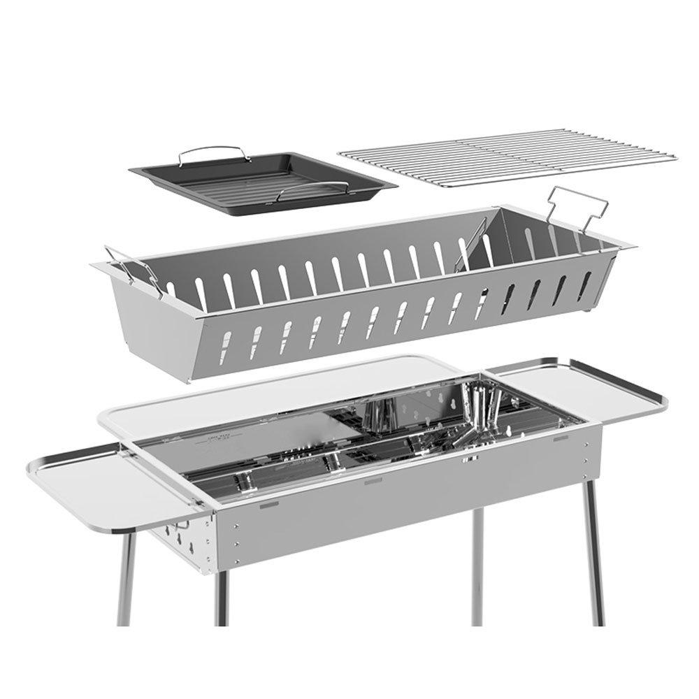 Barbecue Barbecue in acciaio inox Outdoor Set completo di barbecue all'aperto (Dimensione   Package B)