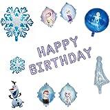 Fleymu Globos Decoraciones Fiesta Cumpleaños Niños Copo Nieve Aluminio Látex Globo Suministros Conjunto Pancarta de…
