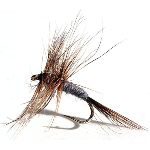 1 dozen Adams Parachute Dry Fly #16 Fly Trout Fishing Flies Para NIB