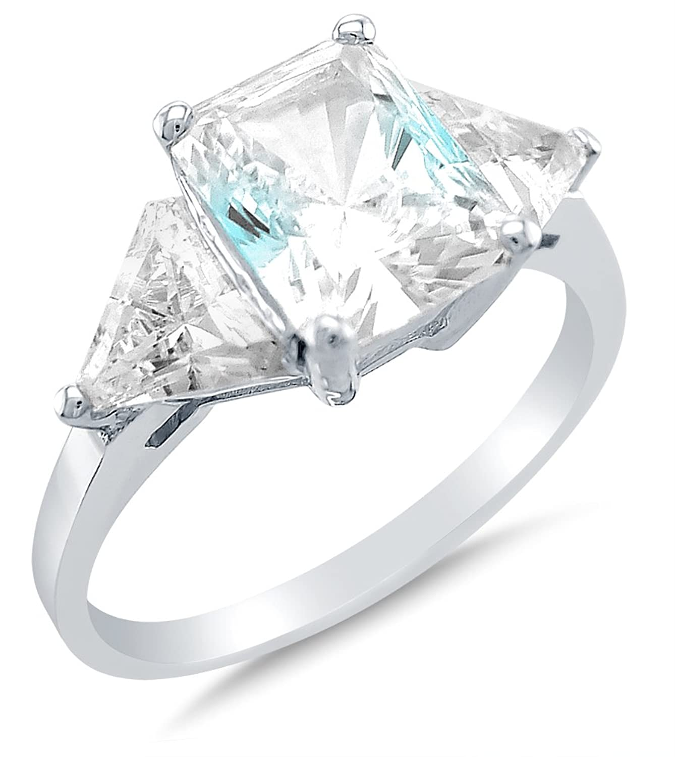 diamond cut platinum side with emerald in center stone engagement rings sides stones pear white ring ct three shape