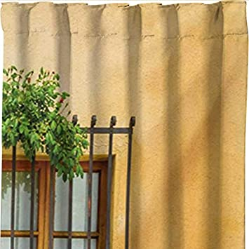Apricot Green Brown Fabric Bathroom Decor Set with Hooks Porch with Different Flowers Pots Fresh Green Plants City Life in Tuscany 70 inches Ambesonne Italy Shower Curtain