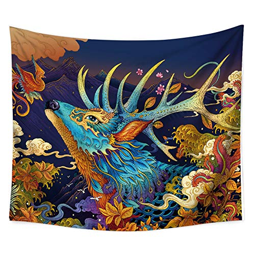 Adarl Sheep God Tapestry Wall Art Bohemian Tapestry Full-Polyester Wall Hanging Indian Hippie Tapestries for Home Decor, 50x60inch