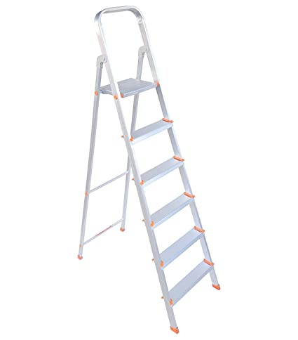 Plutomax 5 Step Ladder For Home Use | Aluminium | Ultra Stable