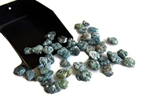 2 Pieces Blue Diamonds, Raw Diamond, Rough Diamond, Uncut Diamond, Loose Diamond, Flat 5mm Each Approx