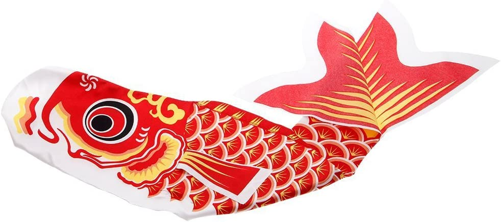 YGMONER Japanese Koi Fish Windsock Fish Flag Hanging Wall Car Decor (35.4 INCH, Red)