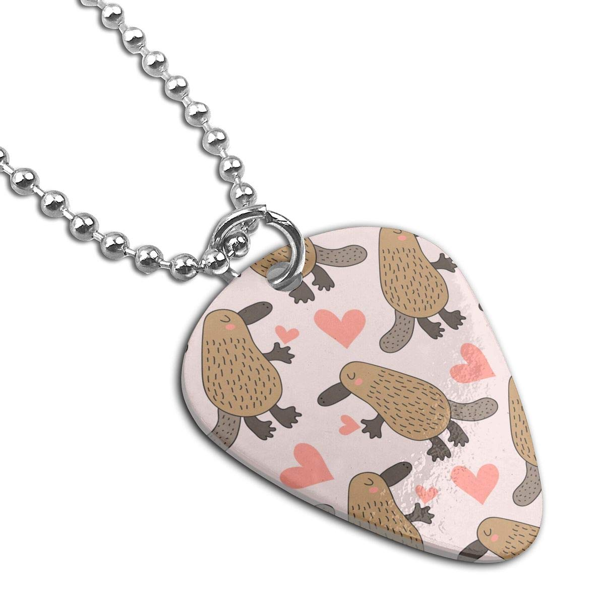 Cute Platypus Custom Guitar Pick Pendant Necklace Keychain
