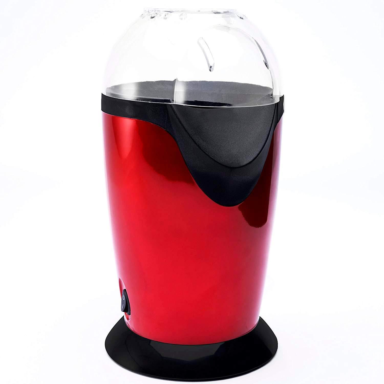 Palomitero, 1200W Máquina de Palomitas de Aire Caliente, Sin Aceite, Diseño con Apertura Amplia, Tapa Removible, y Libre de BPA, Metalizado y Negro: Amazon. ...
