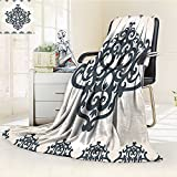 AmaPark Digital Printing Blanket Middle Islamic Motif with Arabic Effects Summer Quilt Comforter