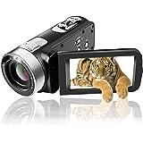 Camcorder Video Camera Full HD 1080p Camcorders 24.0 MP Digital Camera Webcam Pause Function 16X Digital Zoom