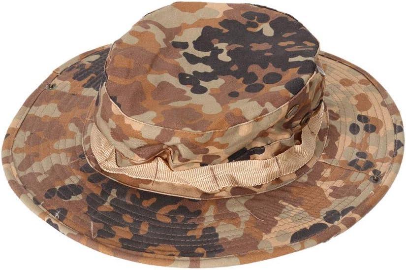 LQ-MAOZI Sombrero De Camuflaje Adecuado para Aire Libre//T/áctico//Ventiladores Militares//Protector Solar//Sombrilla//Entrenamiento//Pescador Pescador Sombrero 58 Cm Color : Negro