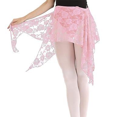 TiaoBug Falda de Danza Vientre Belly Latín Mujer Niñas Falda de ...