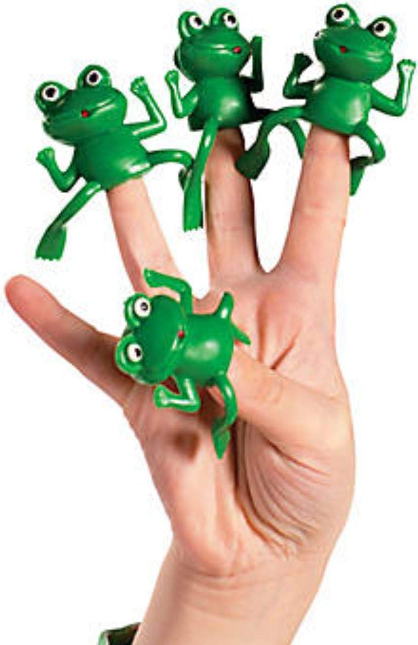 The Dreidel Company Vinyl Frog Finger Puppets Passover Toys - Set of 24