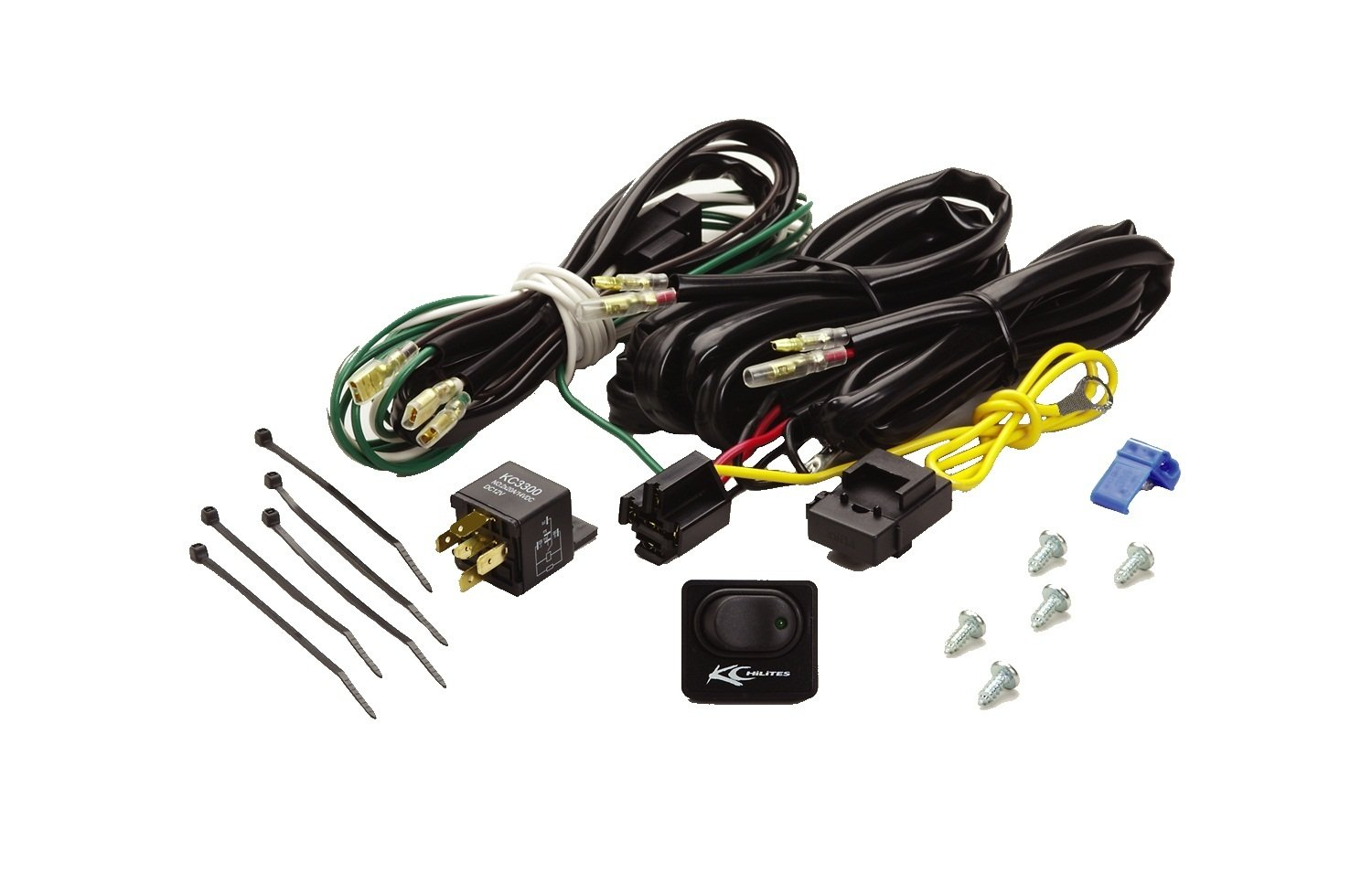 amazon com: kc hilites 6315 wiring harness with 40 amp relay and led rocker  switch: automotive