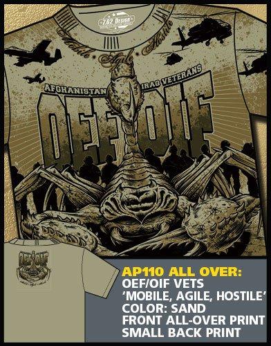 "OEF/OIF VETS ""Mobile, Agile, Hostile"" T-Shirt (2X-LARGE)"