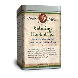 Calming Herbal Tea Blend: Loose-Leaf, Organic & Wildcrafted, Healing and Medicinal, 4 oz. Tin.