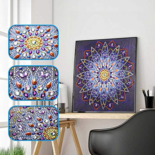 - Full Drill 5D Diamond Painting Craft Home Decor DIY Xmas Gift with Drawing Tools Peacock Rhinestone Embroidery Wall Decor (#G#, 25x25CM)